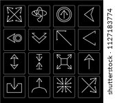 set of 16 icons such as crossed ...