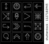set of 16 icons such as down... | Shutterstock .eps vector #1127183945