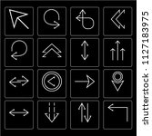 set of 16 icons such as turn...