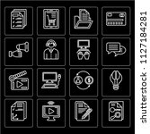 set of 16 icons such as keyword ... | Shutterstock .eps vector #1127184281