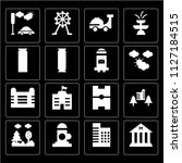 set of 16 icons such as museum  ... | Shutterstock .eps vector #1127184515