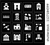 set of 16 icons such as house ... | Shutterstock .eps vector #1127184599