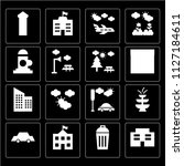 set of 16 icons such as mall ... | Shutterstock .eps vector #1127184611