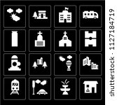 set of 16 icons such as... | Shutterstock .eps vector #1127184719