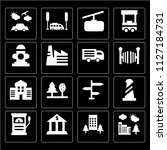 set of 16 icons such as... | Shutterstock .eps vector #1127184731