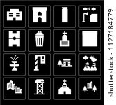 set of 16 icons such as...   Shutterstock .eps vector #1127184779