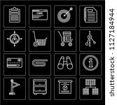 set of 16 icons such as office...