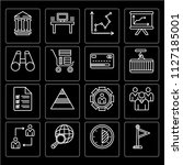 set of 16 icons such as flag ...