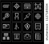 set of 16 icons such as note ...