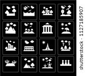 set of 16 icons such as easter...