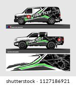 pick up truck and car decal...   Shutterstock .eps vector #1127186921