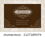 decorative frame in vintage... | Shutterstock .eps vector #1127189474