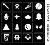 set of 16 icons such as kettle  ...
