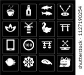 set of 16 simple editable icons ... | Shutterstock .eps vector #1127190254