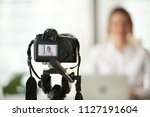 professional dslr digital... | Shutterstock . vector #1127191604