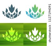 abstract foliate decoration....   Shutterstock .eps vector #1127194091