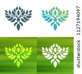abstract foliate decoration....   Shutterstock .eps vector #1127194097