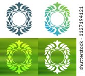 abstract foliate decoration....   Shutterstock .eps vector #1127194121