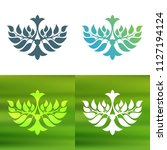 abstract foliate decoration....   Shutterstock .eps vector #1127194124