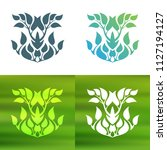 abstract foliate decoration....   Shutterstock .eps vector #1127194127