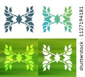 abstract foliate decoration....   Shutterstock .eps vector #1127194181