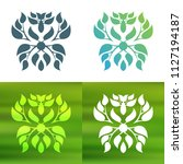 abstract foliate decoration....   Shutterstock .eps vector #1127194187