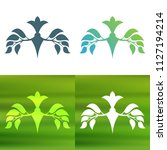 abstract foliate decoration....   Shutterstock .eps vector #1127194214