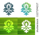 abstract foliate decoration....   Shutterstock .eps vector #1127194217
