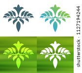 abstract foliate decoration....   Shutterstock .eps vector #1127194244