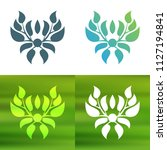 abstract foliate decoration....   Shutterstock .eps vector #1127194841
