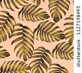 palm monstera seamless pattern. ...   Shutterstock .eps vector #1127198495
