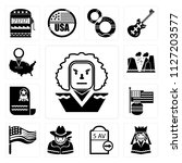 set of 13 simple editable icons ... | Shutterstock .eps vector #1127203577