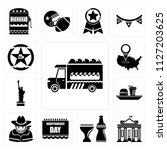 set of 13 simple editable icons ... | Shutterstock .eps vector #1127203625