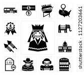 set of 13 simple editable icons ... | Shutterstock .eps vector #1127203661