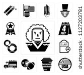 set of 13 simple editable icons ... | Shutterstock .eps vector #1127203781