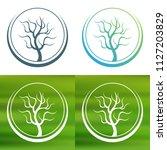 abstract tree concept logo.   Shutterstock .eps vector #1127203829