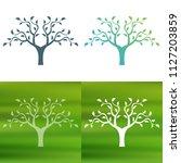 abstract tree concept logo.   Shutterstock .eps vector #1127203859