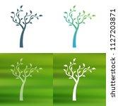 abstract tree concept logo.   Shutterstock .eps vector #1127203871