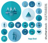 diwali. indian festival icons.... | Shutterstock .eps vector #1127210231