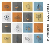 school and education icon set.... | Shutterstock .eps vector #1127234561