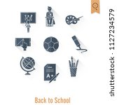 school and education icon set.... | Shutterstock .eps vector #1127234579