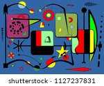 abstract composition   fancy ... | Shutterstock .eps vector #1127237831