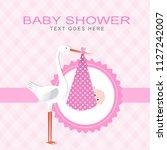 baby shower card | Shutterstock .eps vector #1127242007