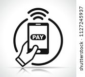illustration of payment with...   Shutterstock .eps vector #1127245937