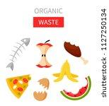 organic waste vector... | Shutterstock .eps vector #1127250134