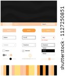 light orange vector ui ux kit...