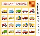memory game for preschool...   Shutterstock .eps vector #1127257055