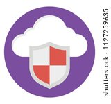 flat icon representing cloud...   Shutterstock .eps vector #1127259635