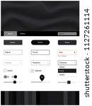 dark gray vector design ui kit...