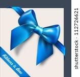 blue bow. vector | Shutterstock .eps vector #112726621